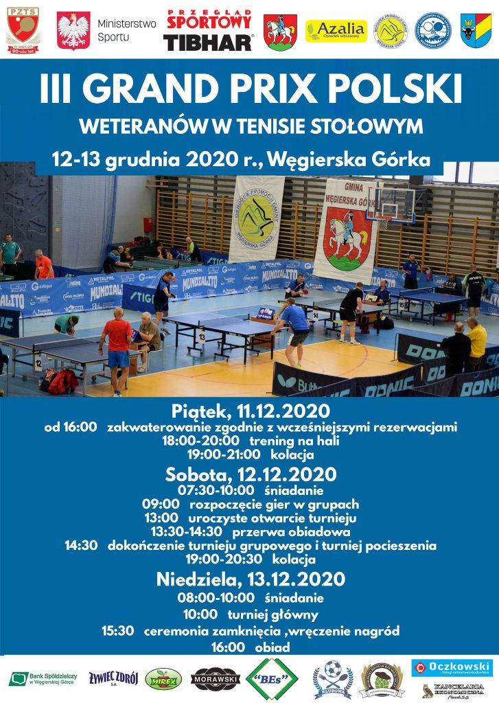 Plakat turnieju III Grand Prix Polski Weteranów
