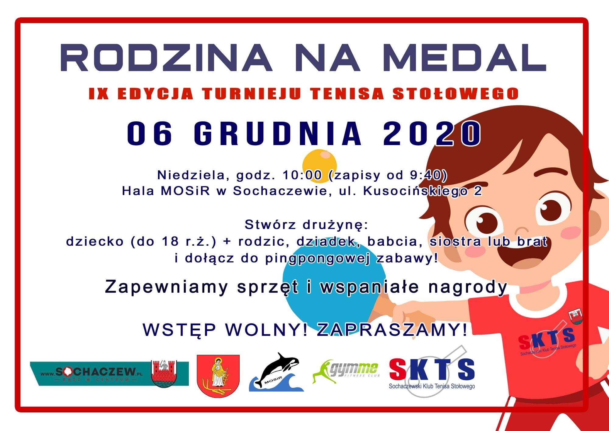 Plakat turnieju RODZINA NA MEDAL - 9 edycja