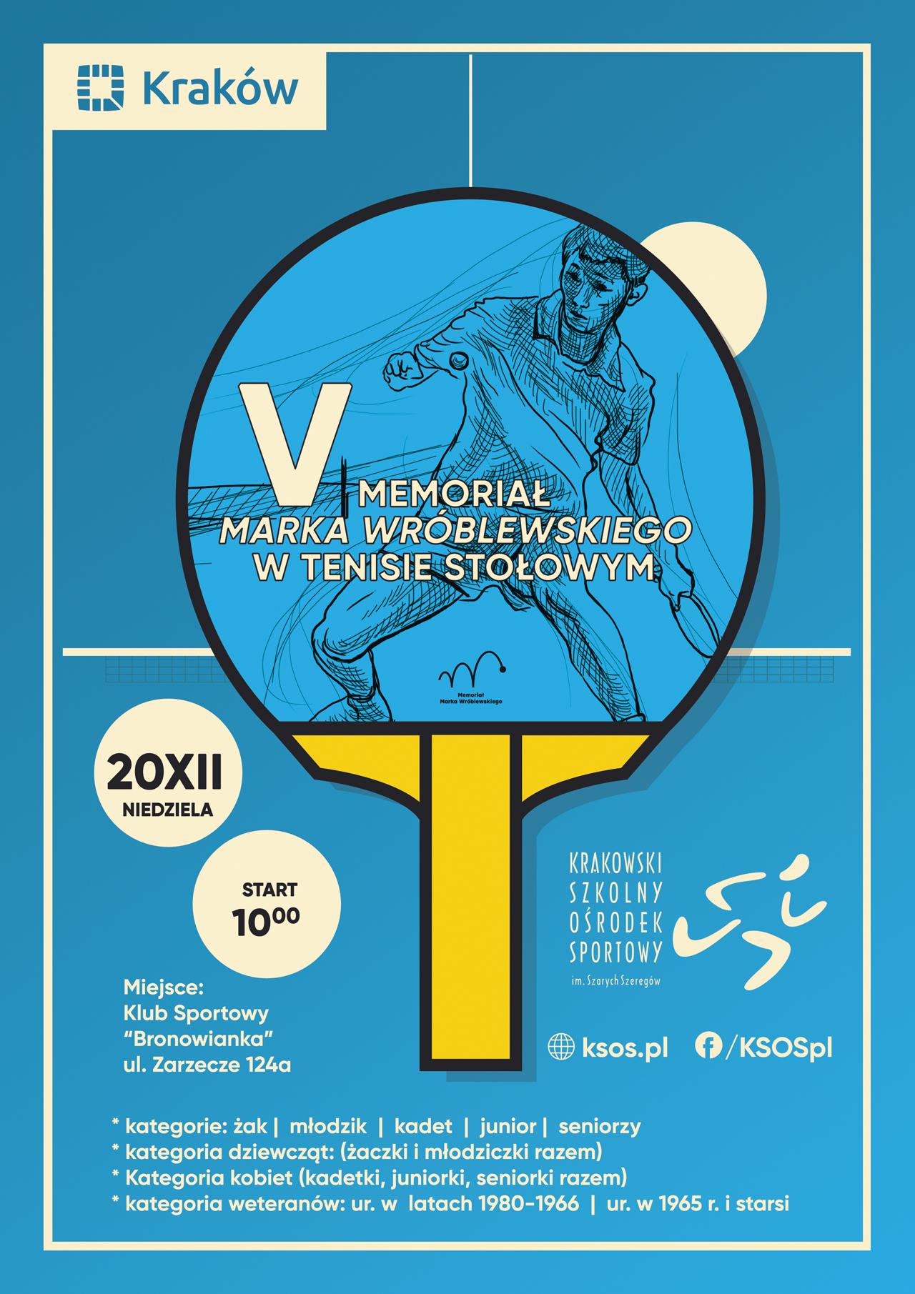Plakat turnieju V Memoriał Marka Wróblewskiego