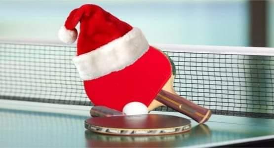 Plakat turnieju Świąteczno Noworoczny Turniej Tenisa Stołowego