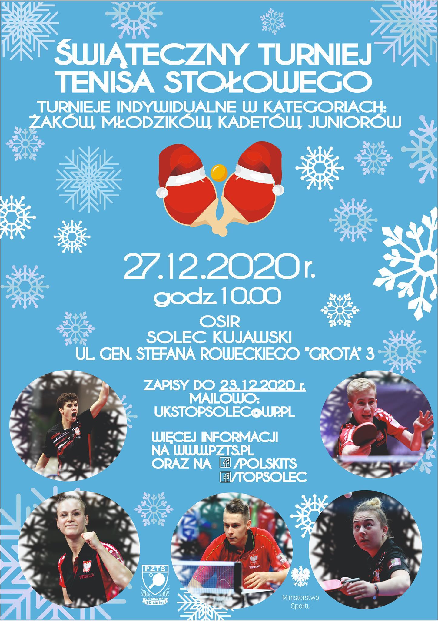 Plakat turnieju Świąteczny Turniej - Solec Kujawski